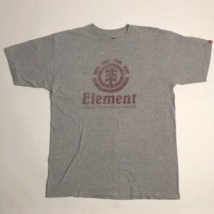 Element wind•water•fire•earth grey t shirt